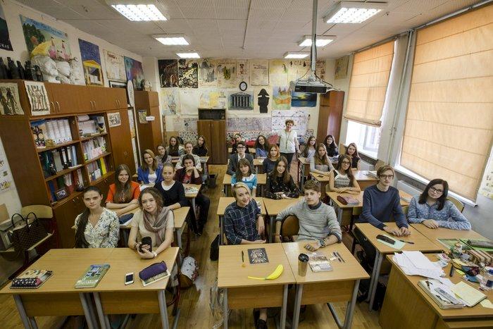Μαθητές γυμνασίου στη Μόσχα.