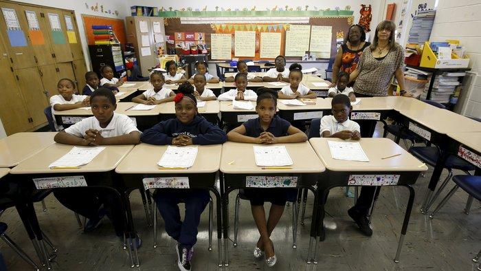 Τάξη σε δημοτικό σχολείο στο Σικάγο.