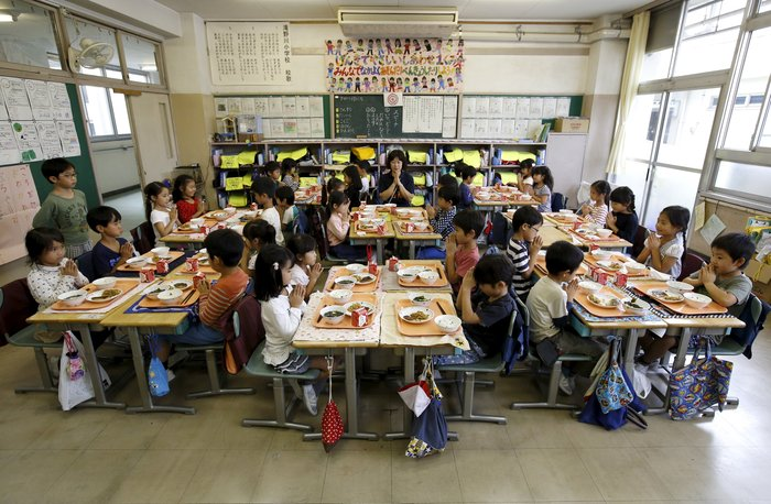 Μαθητές πρώτης τάξης στο Τόκυο.