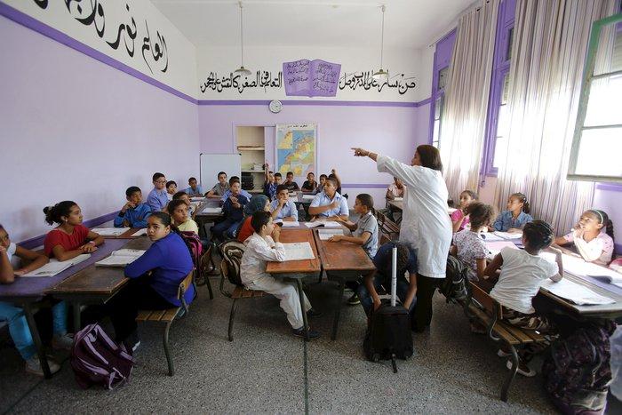 Μαθητές σε σχολείο στο Μαρόκο