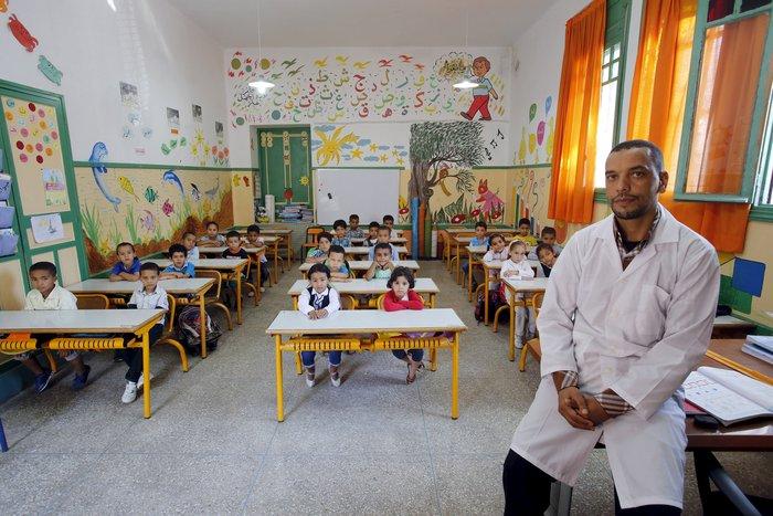 Δημοτικό σχολείο στο Ραμπάτ, πρωτεύουσα του βασιλείου του Μαρόκο.