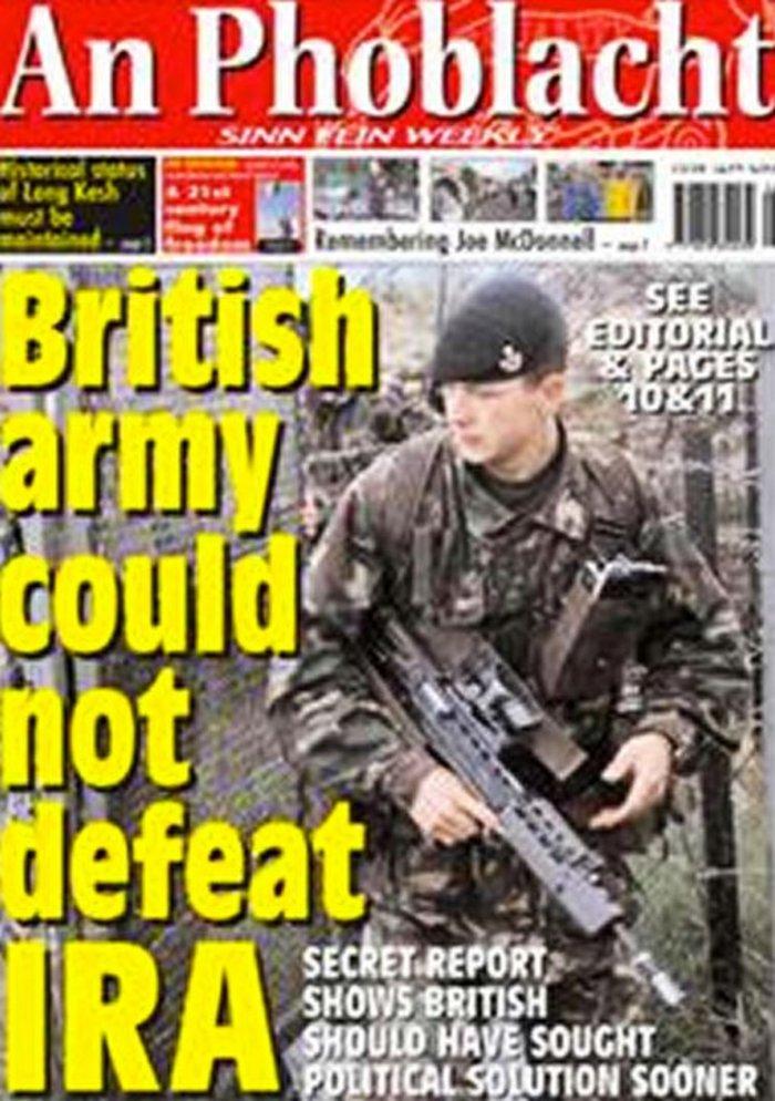 στο προφίλ του είχε ποστάρει και για τον IRA