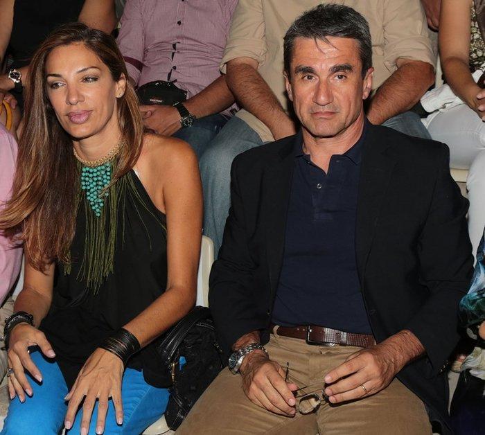 Ο Ανδρέας Λοβέρδος με τη σύζυγό του