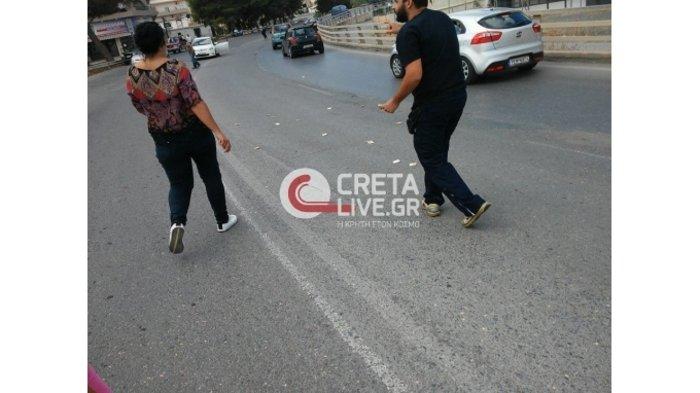Γέμισε ο δρόμος ... 50ευρα στο Ηράκλειο Κρήτης