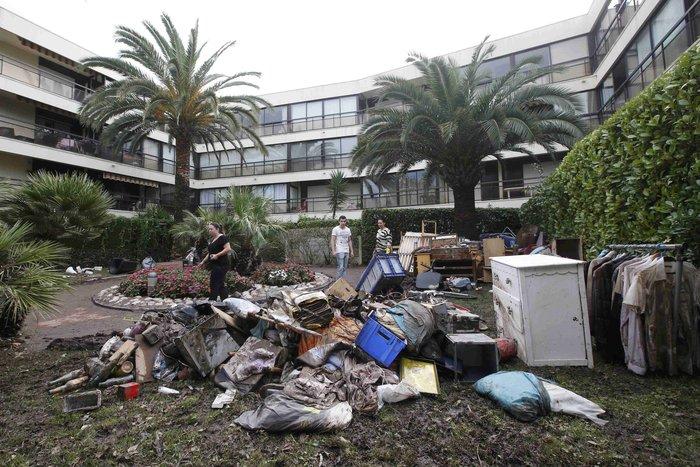 Εικόνες καταστροφής στη Γαλλική Ριβιέρα μετά από τις πλημμύρες