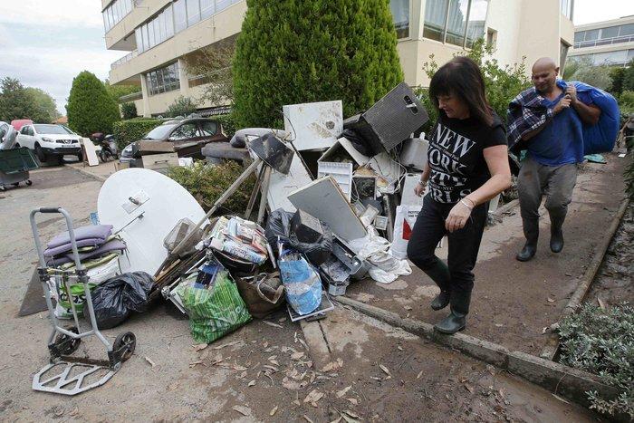 Εικόνες καταστροφής στη Γαλλική Ριβιέρα μετά από τις πλημμύρες - εικόνα 3
