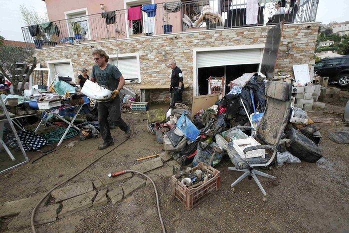 Εικόνες καταστροφής στη Γαλλική Ριβιέρα μετά από τις πλημμύρες - εικόνα 10