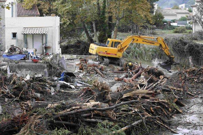 Εικόνες καταστροφής στη Γαλλική Ριβιέρα μετά από τις πλημμύρες - εικόνα 11