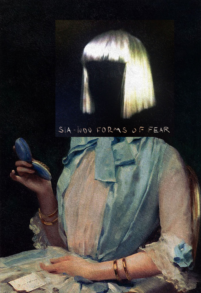 1000 Forms of Fear by Sia + Portrait of Aline Mason in Blue by Raimundo de Madrazo