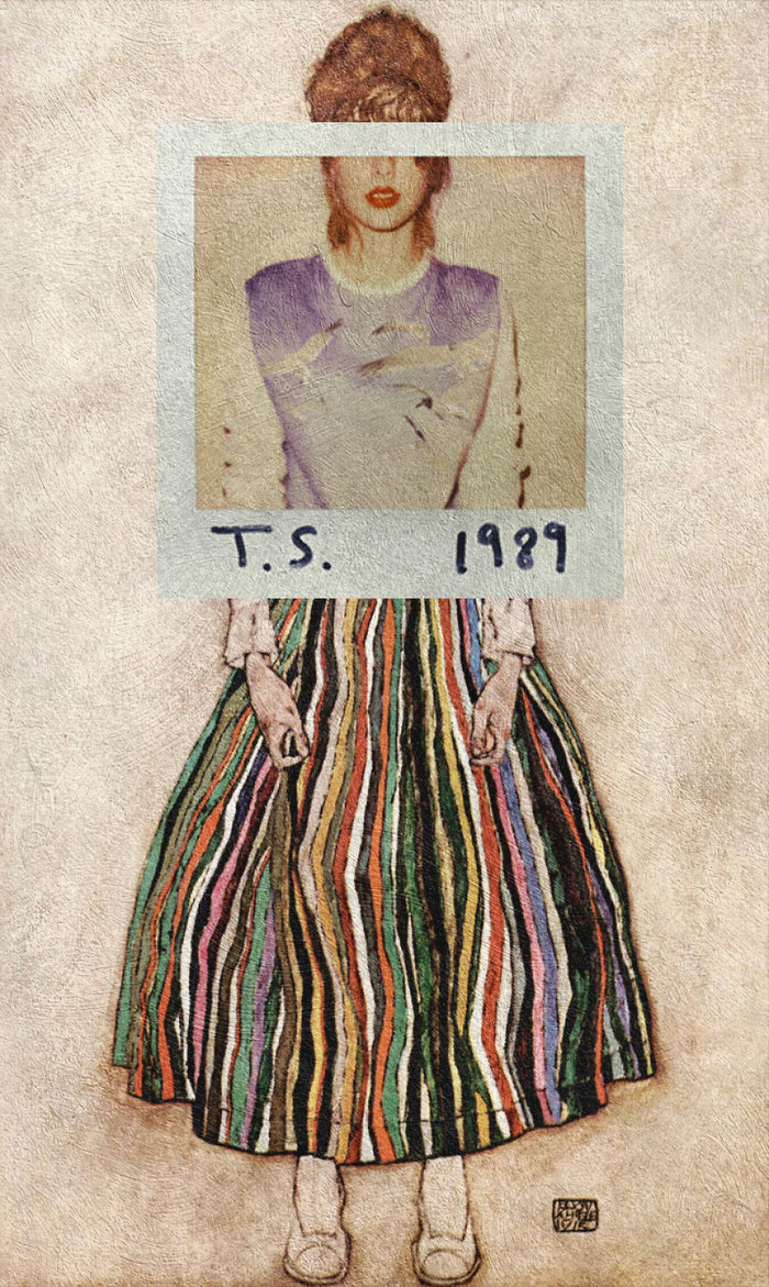 1989 by Taylor Swift & Portrait of Edith (the artist's wife) by Egon Schiele