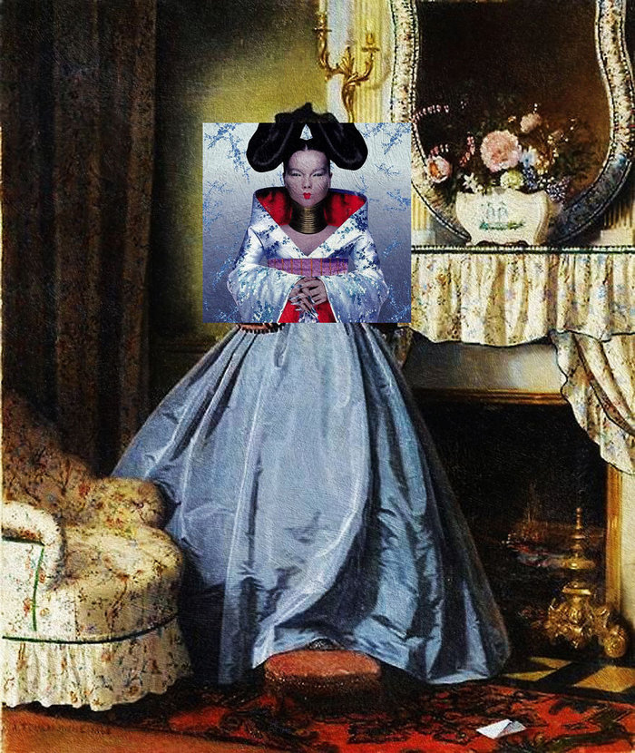 Homogenic by Björk & The Love Letter by Auguste Toulmouche