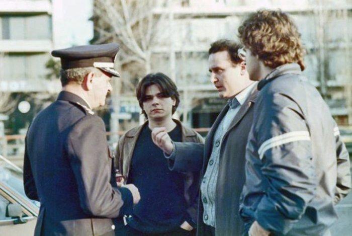 25 Μαρτίου 1986. Ο Νίκος Φίλης διαπραγματεύεται με τον αττικάρχη Νίκωνα Αρκουδέα το κλείσιμο της Συγγρού από την ΕΚΟΝ Ρ. Φ.