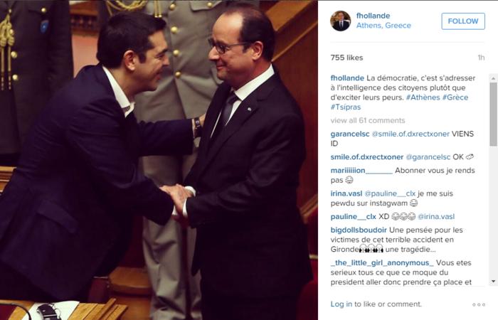 Η «κρυφή» συμβουλή Ολάντ στον Τσίπρα μέσω Instagram