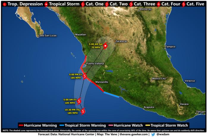 Στο Μεξικό φθάνει ο σούπερ τυφώνας Πατρίσια - ΒΙΝΤΕΟ