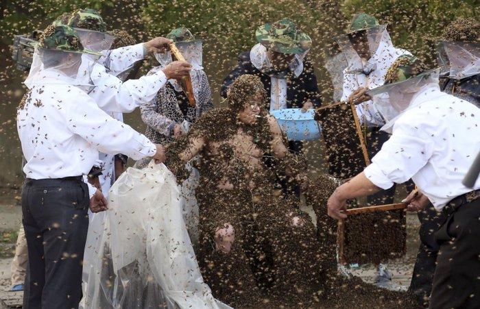 Ο Gao Bingguo είναι ο άνθρωπος που τον έχουν καλύψει οι περισσότερες μέλισσες