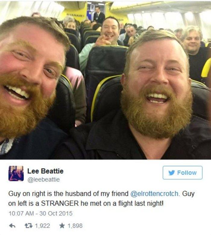 Βρετανός βρίσκει τον σωσία του μέσα στο αεροπλάνο