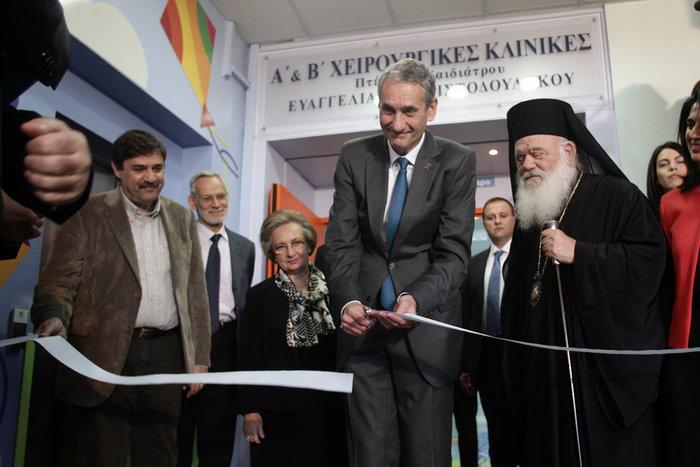 Ο Kamil Ziegler, Πρόεδρος και Διευθύνων Σύμβουλος ΟΠΑΠ εγκαινιάζει τις νέες ανακαινισμένες μονάδες