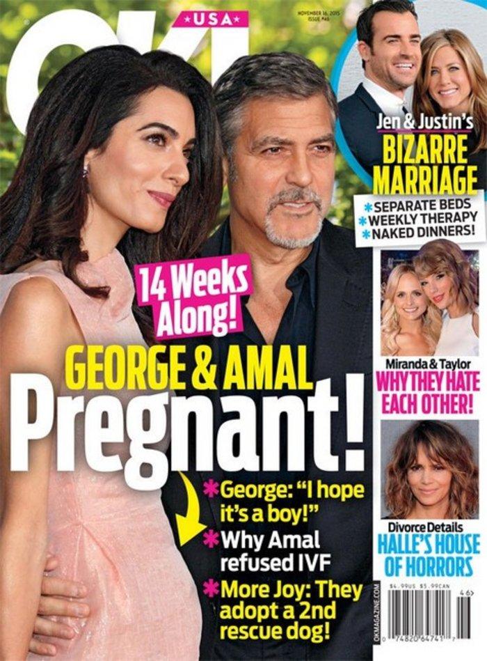 Αμερικανικό δημοσίευμα: Η Αμάλ είναι έγκυος 3 μηνών!
