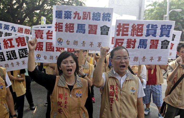 Ιστορική χειραψία των ηγετών της Κίνας και της Ταϊβάν - ΒΙΝΤΕΟ - εικόνα 3