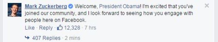 Το έκανε και αυτό: Ο Ομπάμα άνοιξε σελίδα στο Facebook - εικόνα 2