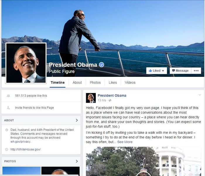 Το έκανε και αυτό: Ο Ομπάμα άνοιξε σελίδα στο Facebook