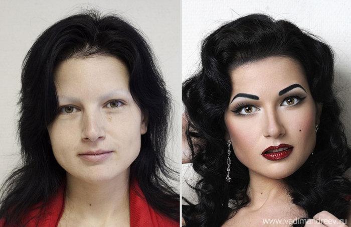Πριν και μετά το μακιγιάζ: 18 απίστευτες μεταμορφώσεις - εικόνα 16