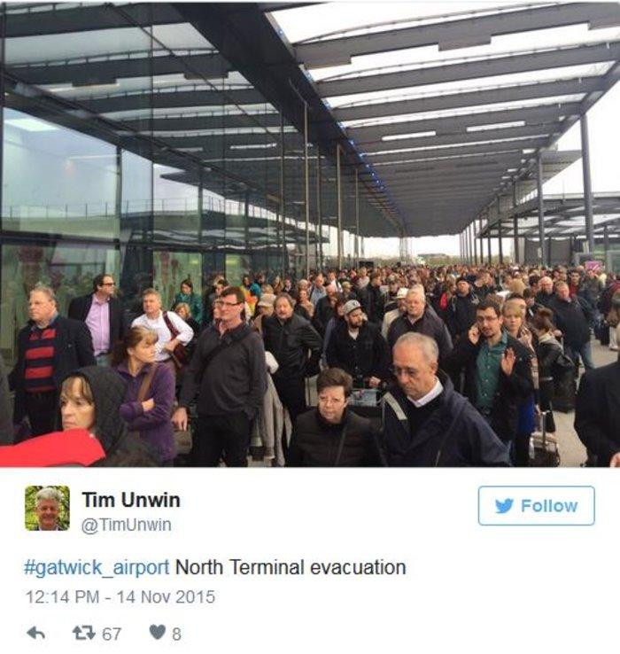 Eκκενώθηκε το αεροδρόμιο Gatwick του Λονδίνου για λόγους ασφαλείας