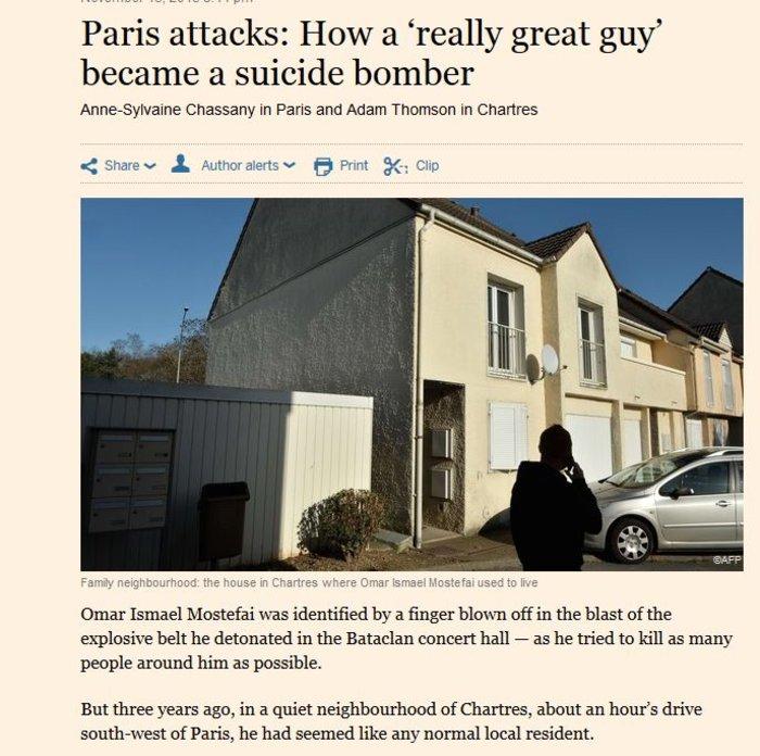 FT: Πώς ο άνθρωπος της διπλανής πόρτας έγινε βομβιστής αυτοκτονίας