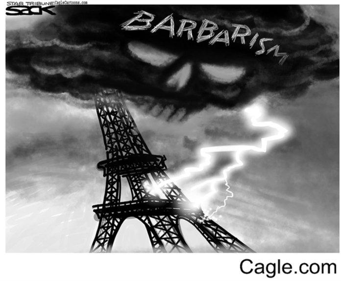 Σκιτσογράφοι από όλον τον κόσμο θρηνούν για το Παρίσι - εικόνα 4