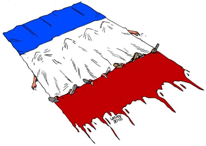 Σκιτσογράφοι από όλον τον κόσμο θρηνούν για το Παρίσι - εικόνα 6