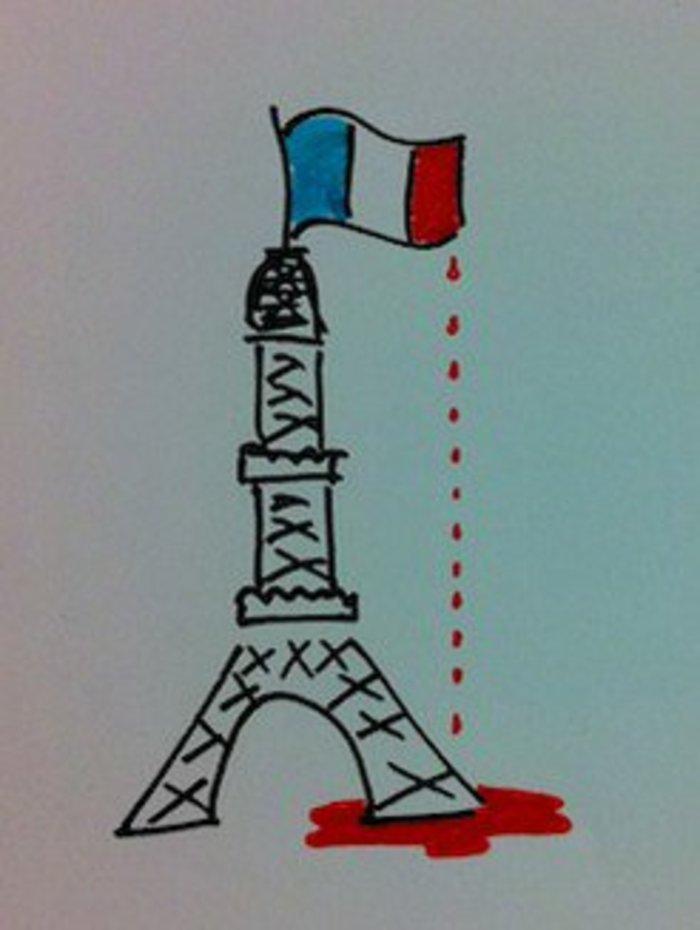 Σκιτσογράφοι από όλον τον κόσμο θρηνούν για το Παρίσι - εικόνα 7