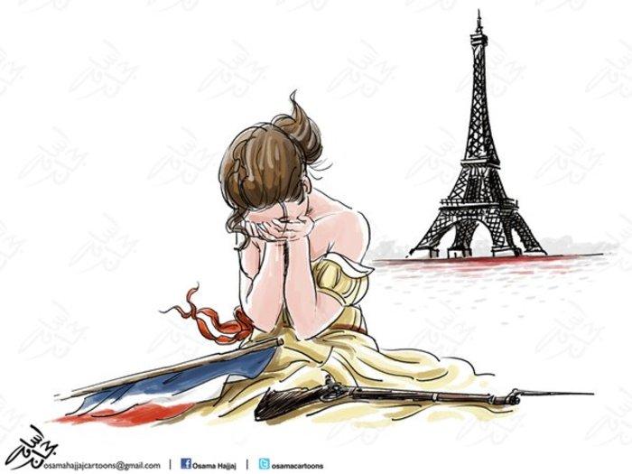 Σκιτσογράφοι από όλον τον κόσμο θρηνούν για το Παρίσι - εικόνα 11