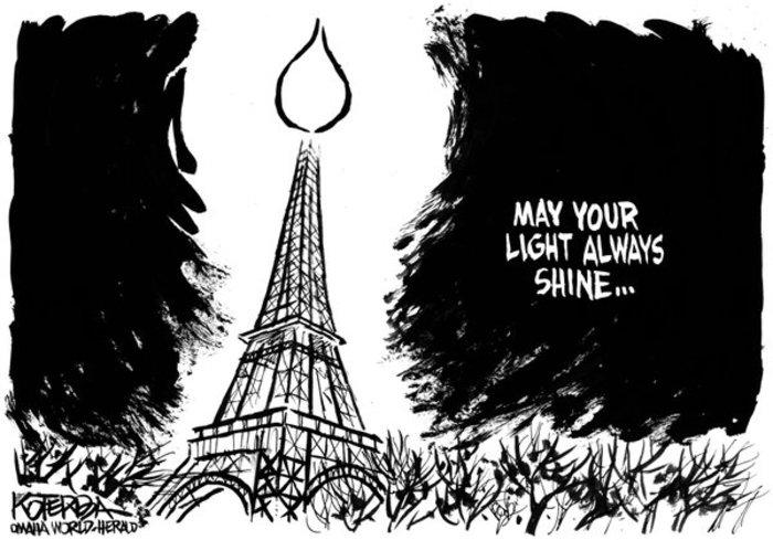 Σκιτσογράφοι από όλον τον κόσμο θρηνούν για το Παρίσι - εικόνα 12