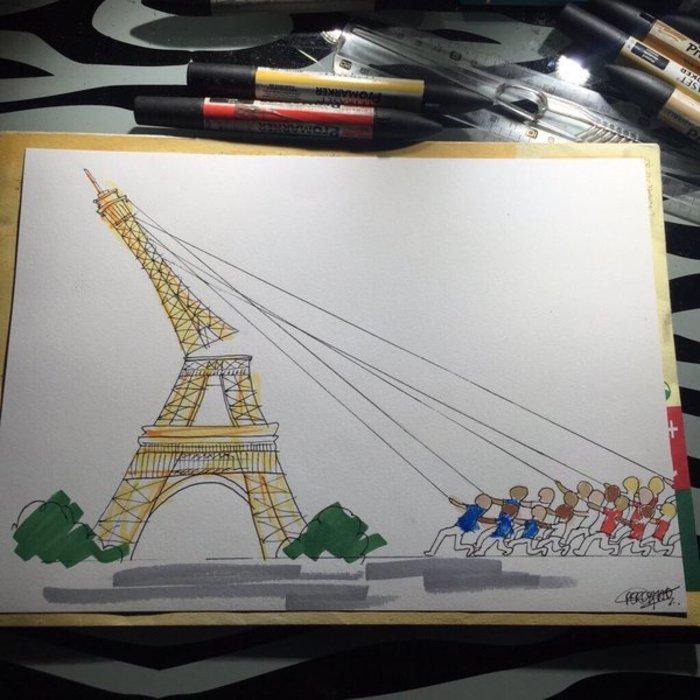Σκιτσογράφοι από όλον τον κόσμο θρηνούν για το Παρίσι - εικόνα 14