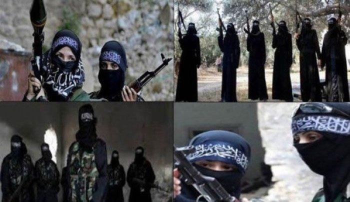 Μέλη της al-Khansaa Brigade, του γυναικείου τμήματος του ISIS