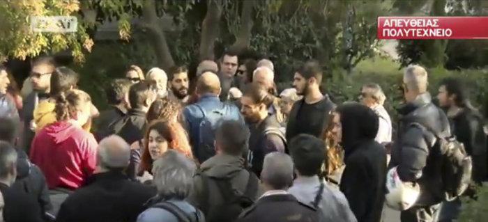 Ένταση στο Πολυτεχνείο λίγο πριν την άφιξη Τσίπρα (βίντεο) - εικόνα 2