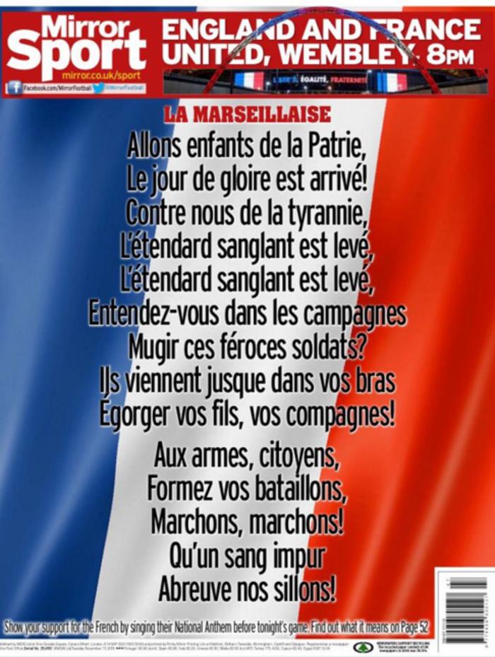 Το Γουέμπλεϊ «τραγουδά» τη Μασσαλιώτιδα