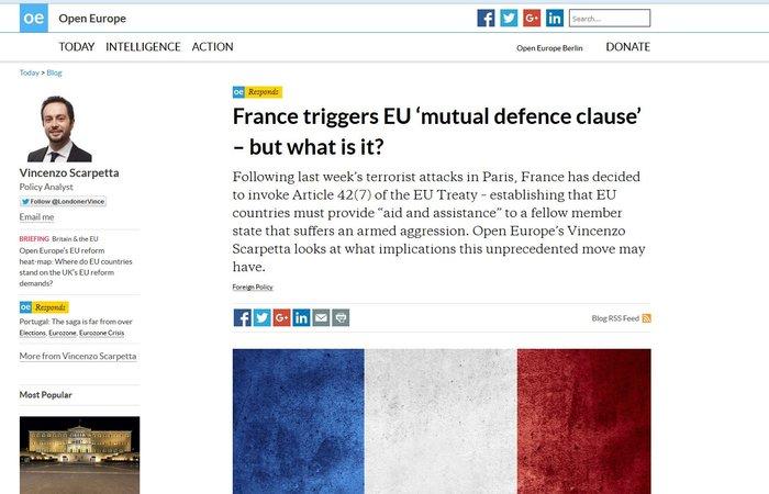 Τι σημαίνει για την Ευρώπη η ενεργοποίηση του Άρθρου 42 της Συνθήκης