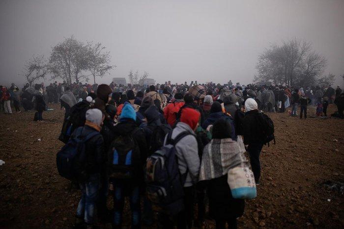 Ειδομένη: Συγκλονιστικές φωτογραφίες από το δράμα των προσφύγων - εικόνα 5