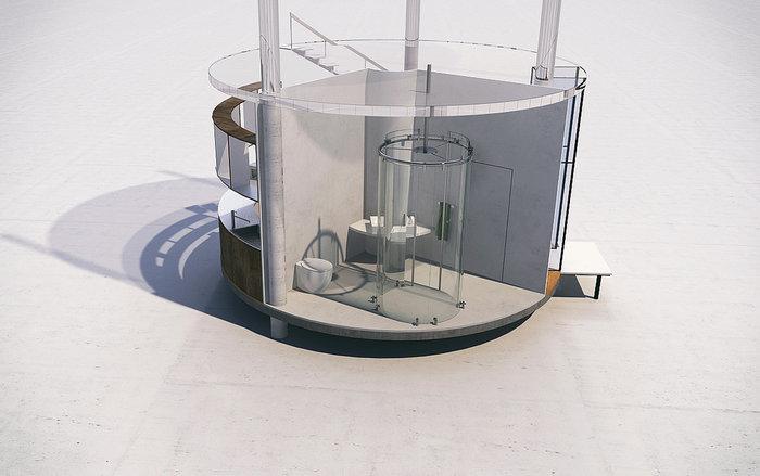 Το γυάλινο σπίτι χωρίς τοίχους, που τυλίγεται σε ένα τεράστιο δέντρο! - εικόνα 7