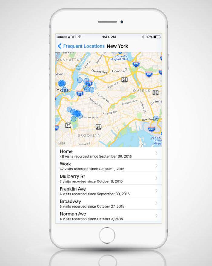 Κρυμμένος χάρτης στο iPhone, καταγράφει όλα τα σημεία όπου έχετε βρεθεί - εικόνα 2
