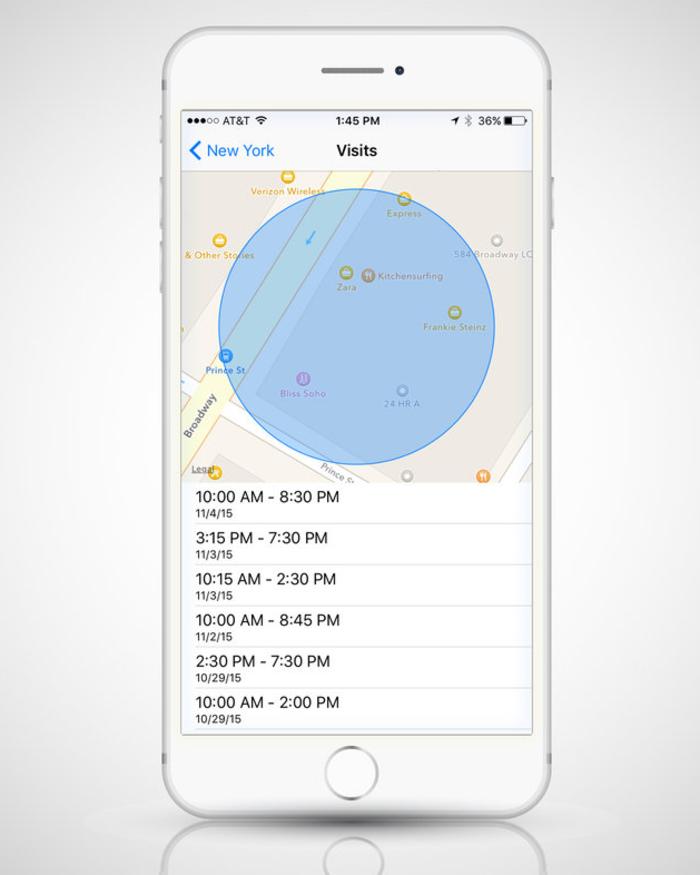 Κρυμμένος χάρτης στο iPhone, καταγράφει όλα τα σημεία όπου έχετε βρεθεί - εικόνα 3