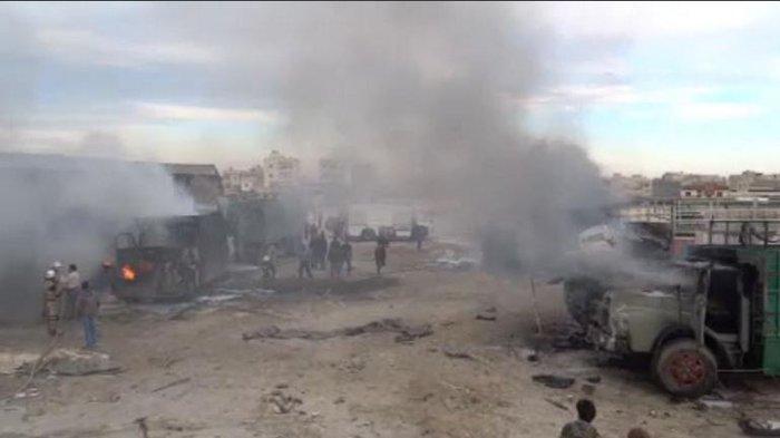 Χτυπήθηκε τουρκικό κονβόι στα σύνορα Τουρκίας-Συρίας