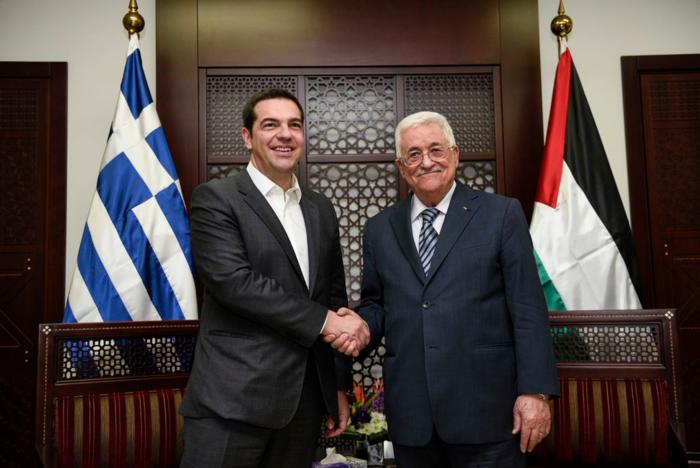 Τσίπρας: Υπερ της δημιουργίας κράτους της Παλαιστίνης
