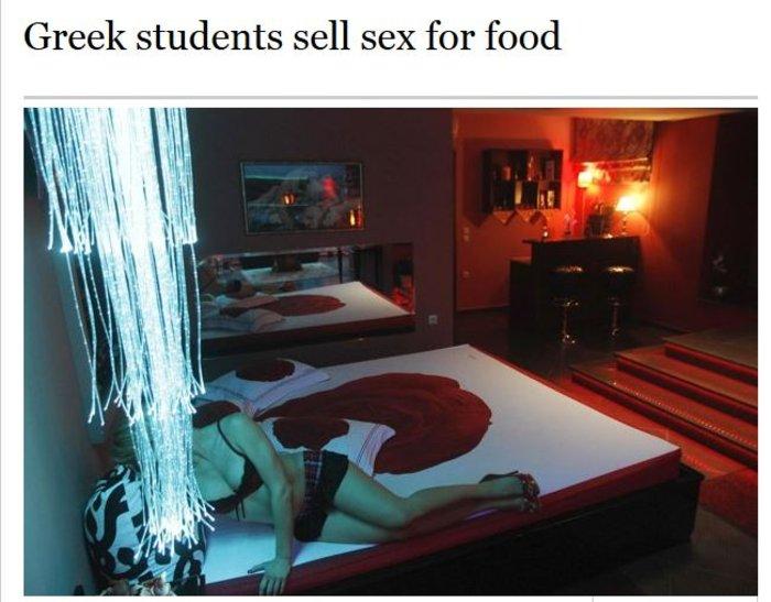 Times: Οι ελληνίδες φοιτήτριες πουλάνε σεξ για μια τυρόπιτα λόγω κρίσης