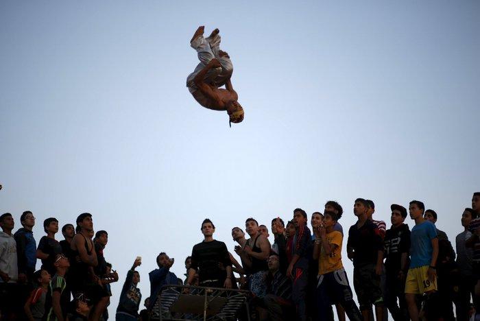 Τα παιδιά της Παλαιστίνης κάνουν παρκούρ