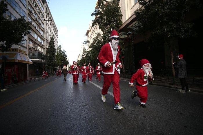 Σήμερα το «2ο Athens Santa Run», κλειστό το κέντρο της Αθήνας - εικόνα 9