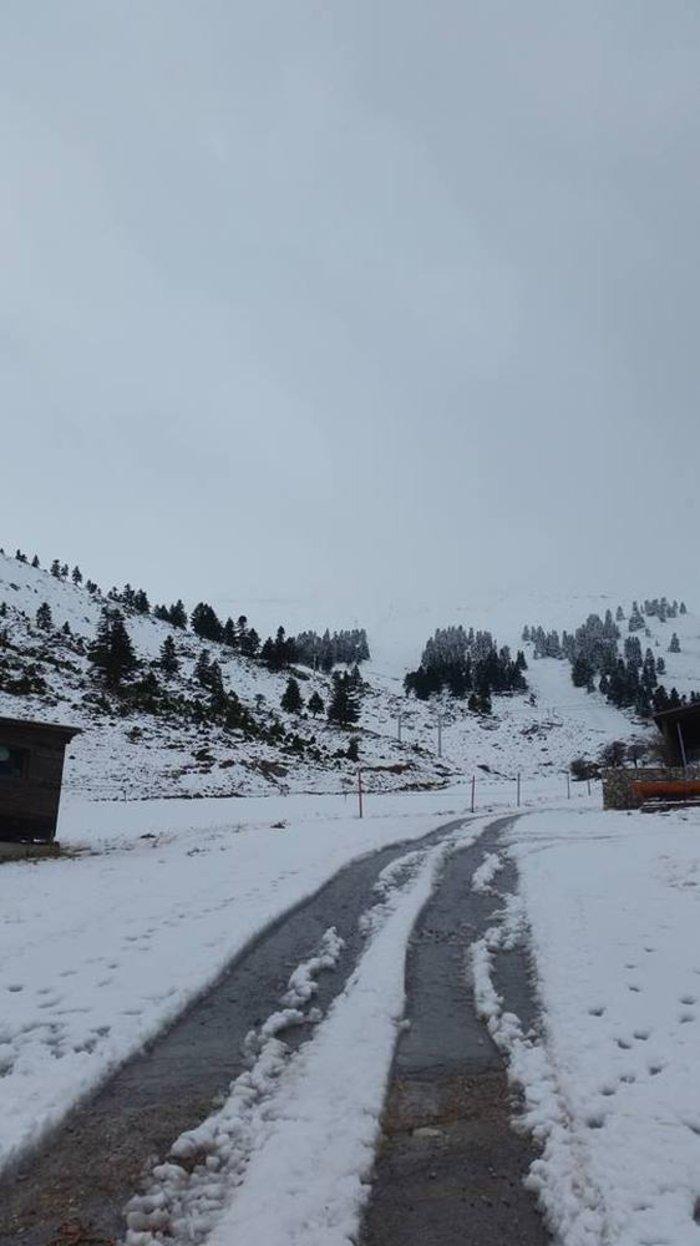 Επεσαν τα πρώτα χιόνια στα Καλάβρυτα: Δείτε τις εικόνες - εικόνα 2