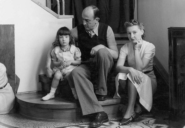 Η Ξένια με τους γονείς της