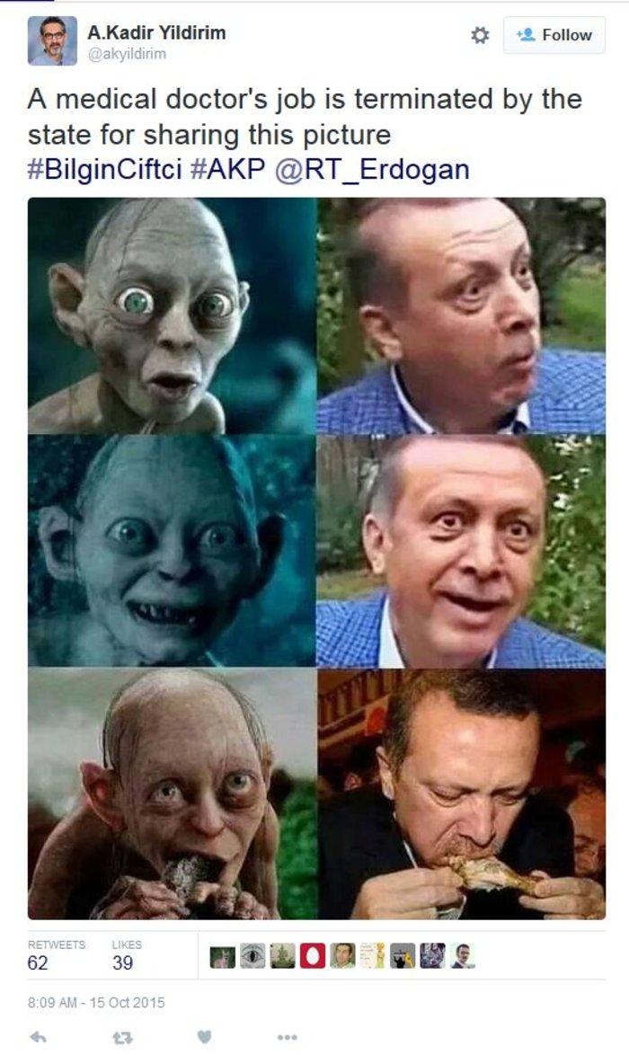 Δικαστήριο αποφασίζει εάν το... Γκόλουμ μοιάζει με τον Ερντογάν - εικόνα 2